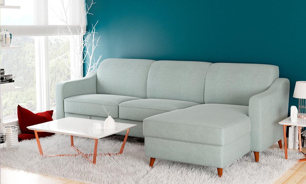 sofa perfeito-Chaise longue reversível com cama ZOLA