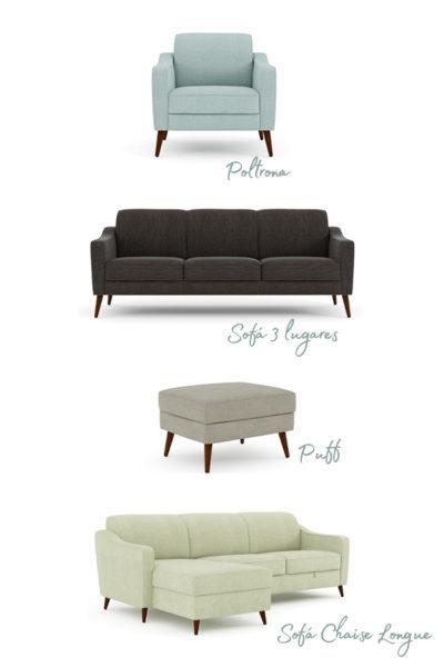 O sofá perfeito ZOLA da Conforama tem múltiplas versões.