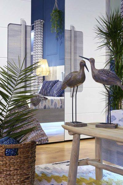Banco decorativo TEAK de madeira em cor natural