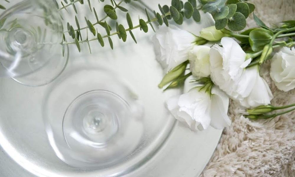 decoracao batizado centro de mesa