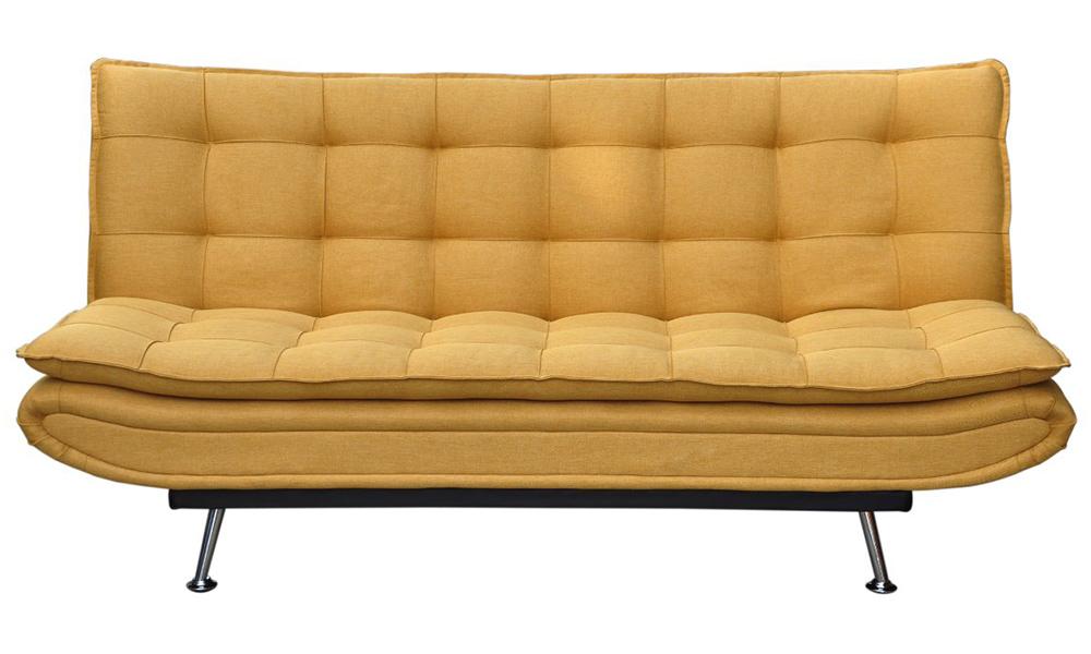 Sofá cama de tecido WILLEM Conforama casas pequenas