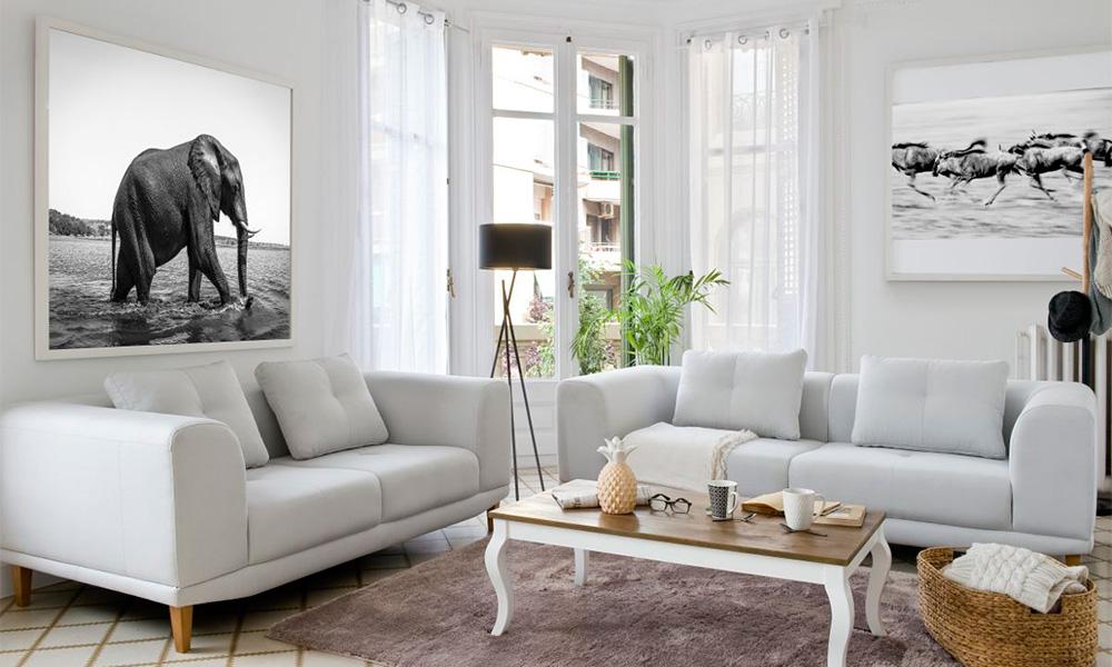 Sofá de tecido DANUBIO Conforama Como escolher um sofá