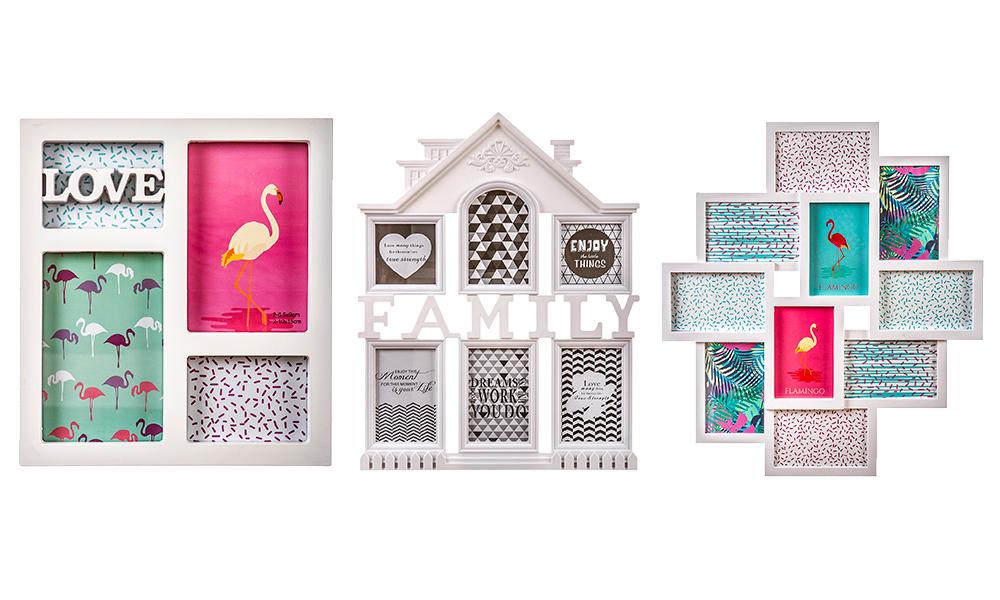 Moldura multifotos ideias decoração Conforama