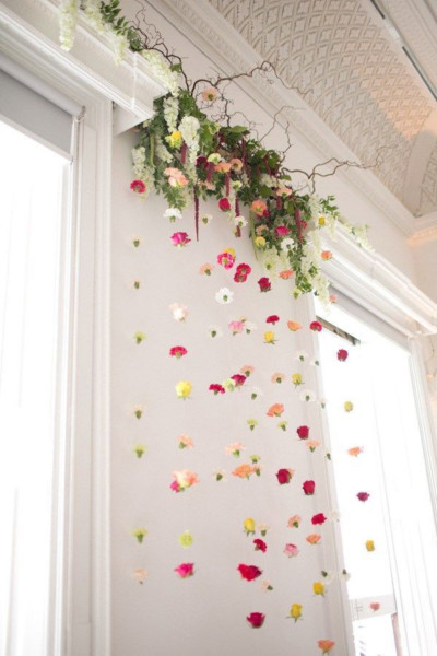 Flores naturales en paredes