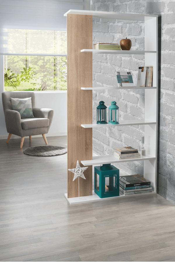 Estante ALIDA não encostar móveis ao à parede