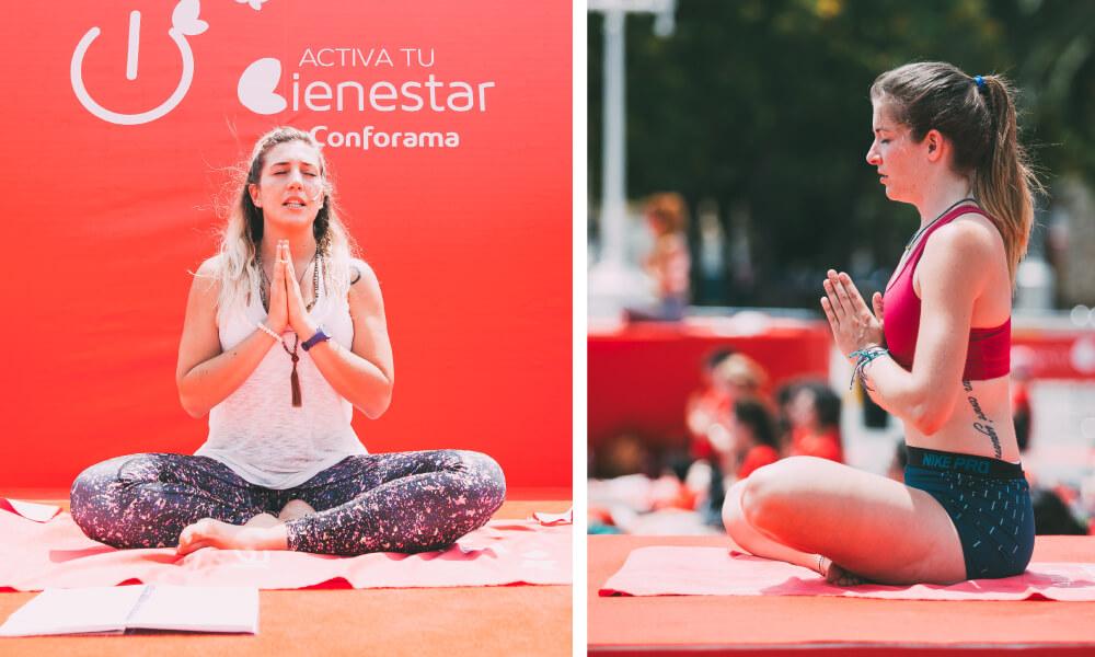 Postura Lótus Praticando yoga em sua casa com a Conforama
