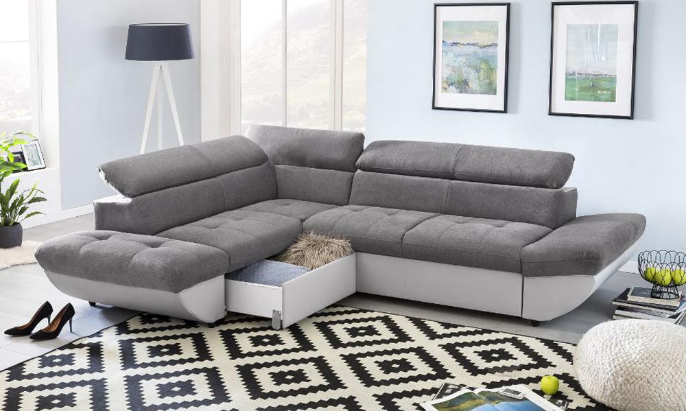 Microfibra do Sofá TAIFUN da Conforama de Limpeza fácil