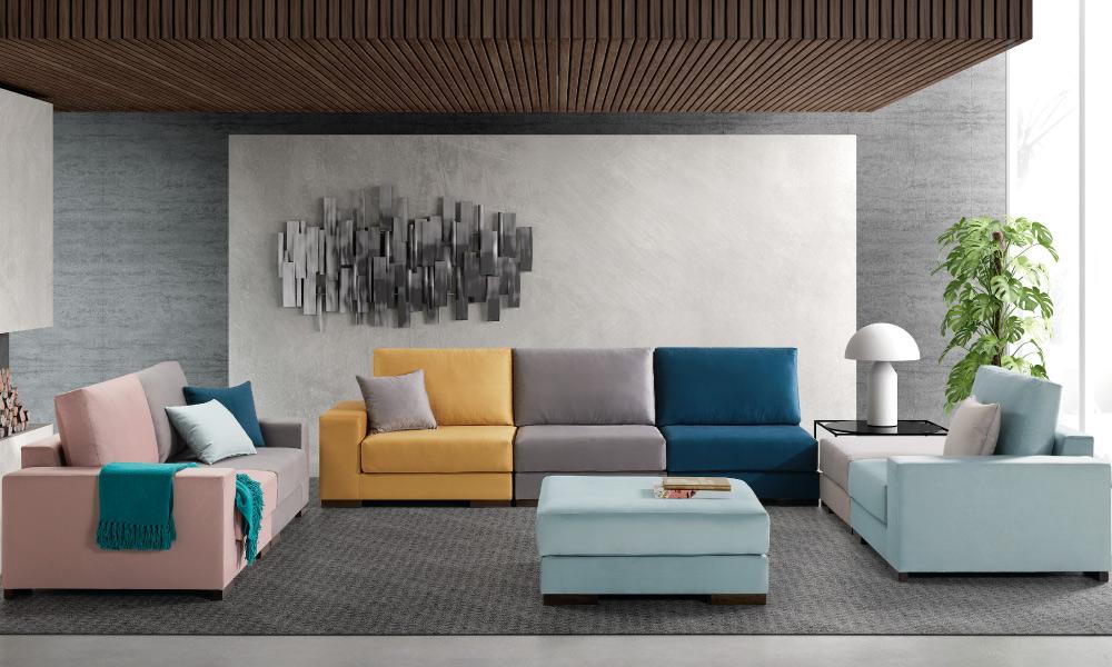 Sofá modular TUCAN Conforama Descubra que cores combinam com a sua personalidade