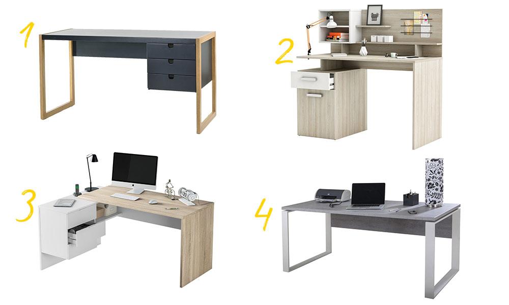 Mesas de escritório da Conforama