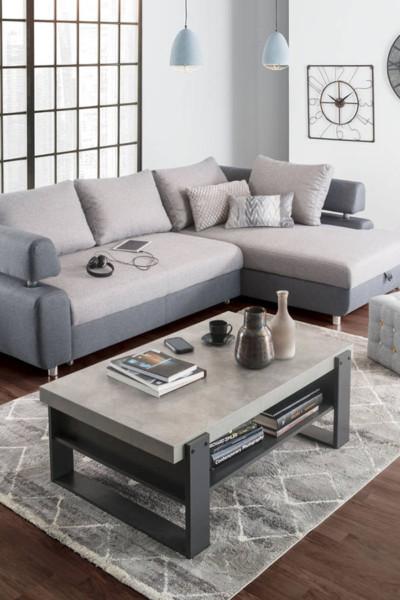 Chaise longue PANAMÁ em tons de cinza para salas mais neutras