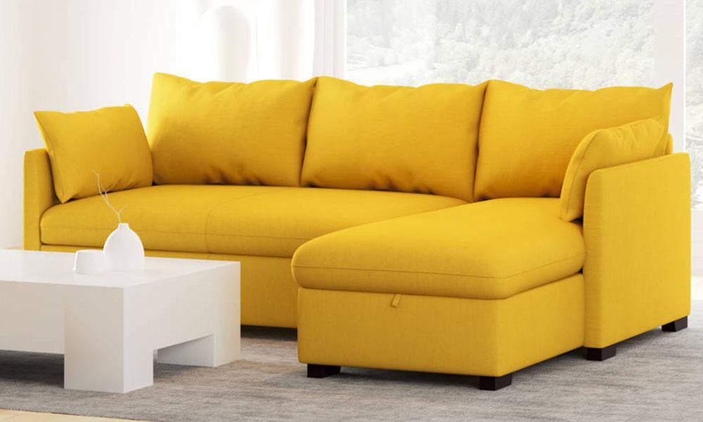 Chaise longue com cama reversível tecido COSY