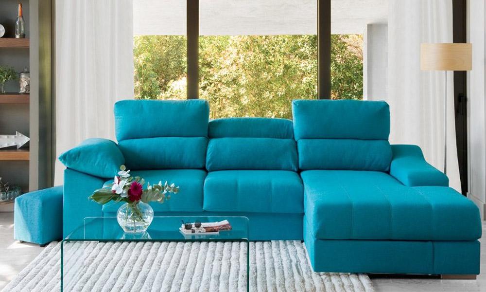 Decorar um apartamento alugado con Chaise longue direita com pouf DANIELA