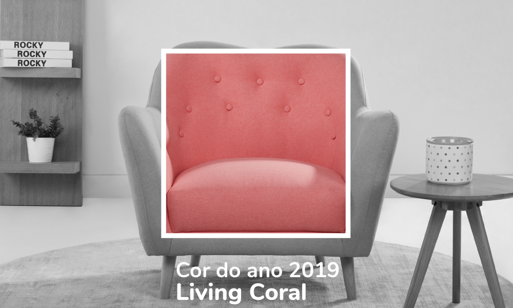 Aposte nas cores tendência Living Coral
