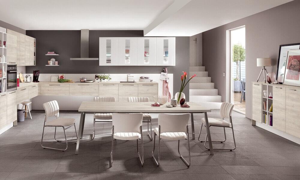 Sala e cozinha em open space
